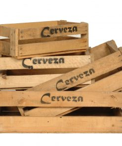 Wooden beer crates