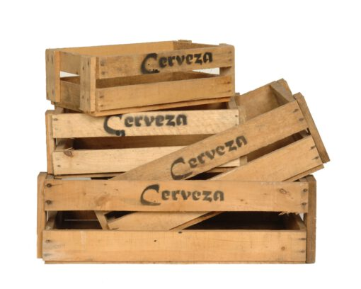 Wooden beer crates